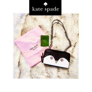 🌟 New Kate Spade Frosy Penguin 🐧 Clutch 🌟